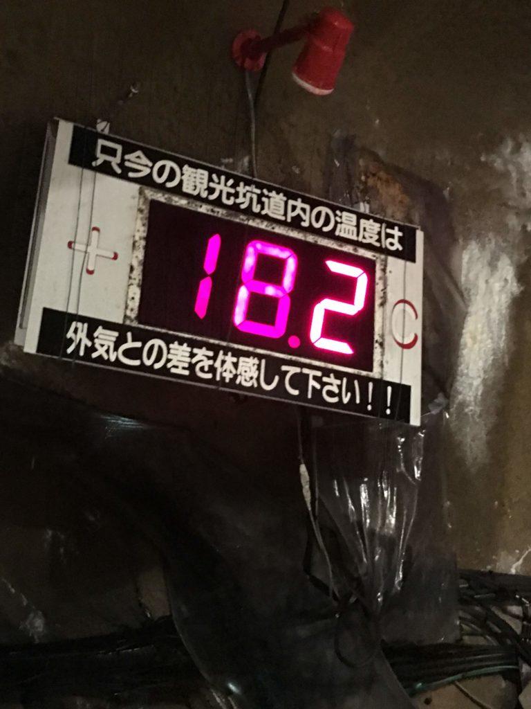 坑道内の温度